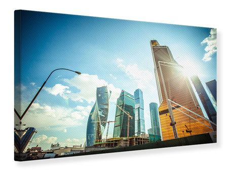 Leinwandbild Wolkenkratzer Moskau