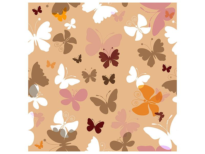 Leinwandbild Retrodesign Schmetterlinge
