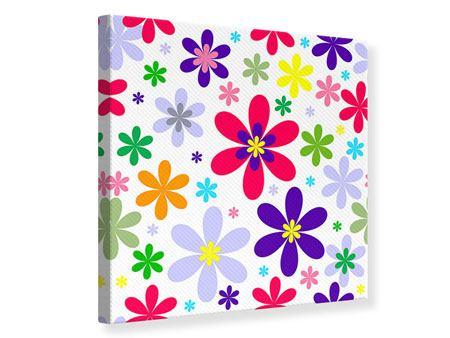 Leinwandbild Retromode Blumen