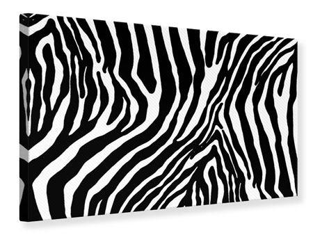 Leinwandbild Zebramuster