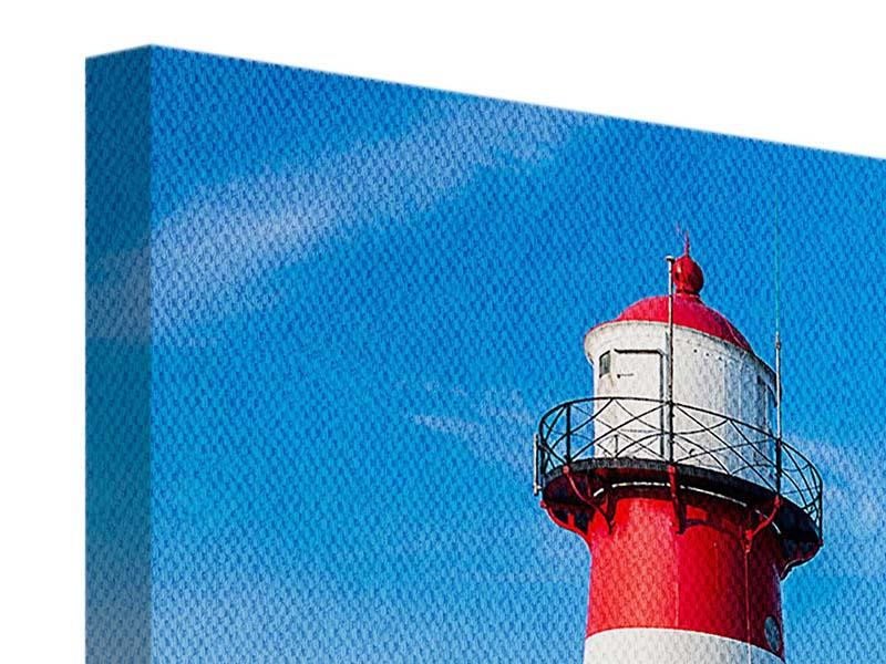 Leinwandbild Sommer beim Leuchtturm