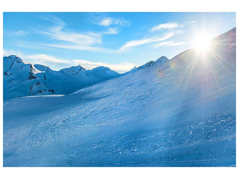 Leinwandbild Sonnenaufgang in den Bergen