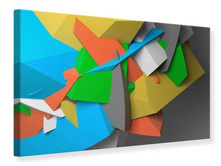 Leinwandbild 3D-Geometrische Figuren