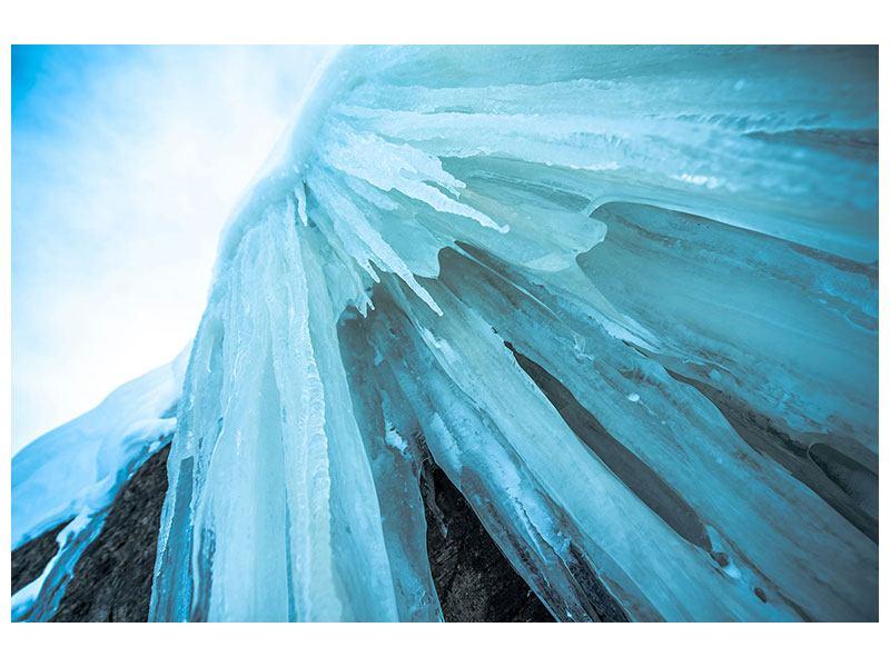 Leinwandbild Die Eiswand