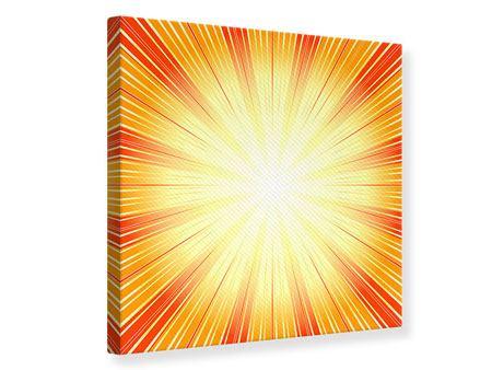 Leinwandbild Abstrakte Retro Sonne
