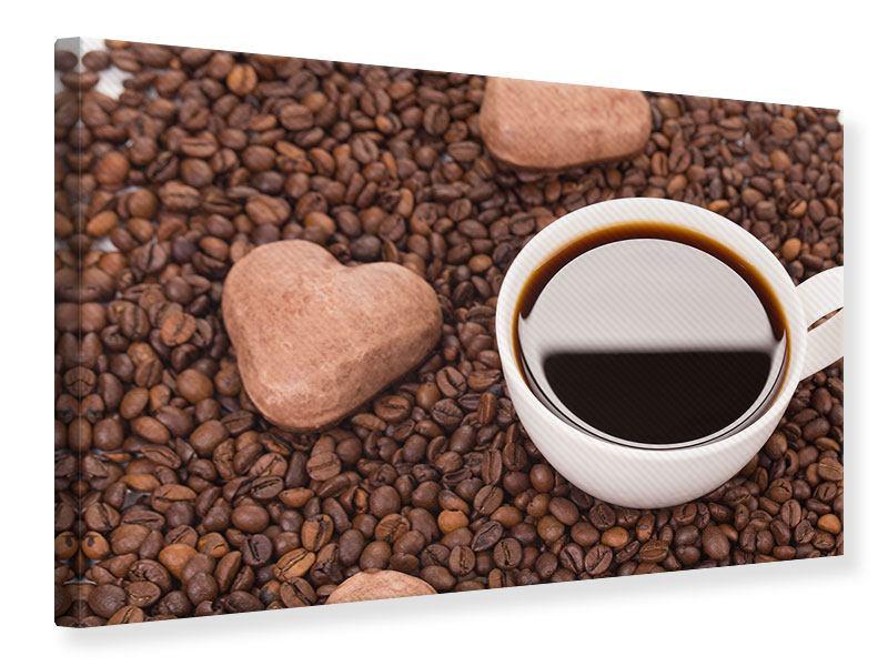 Leinwandbild Pausenkaffee