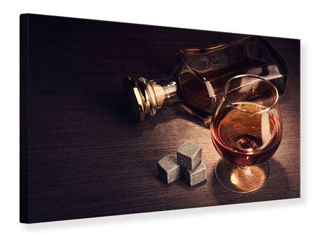 Leinwandbild Ein Glas Cognac