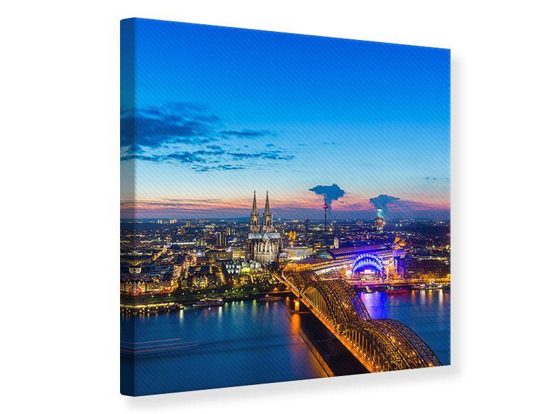 Leinwandbild Skyline Ein Penthouse in Köln