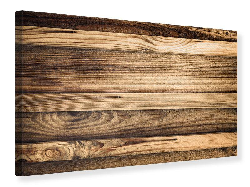 Leinwandbild Holztrend
