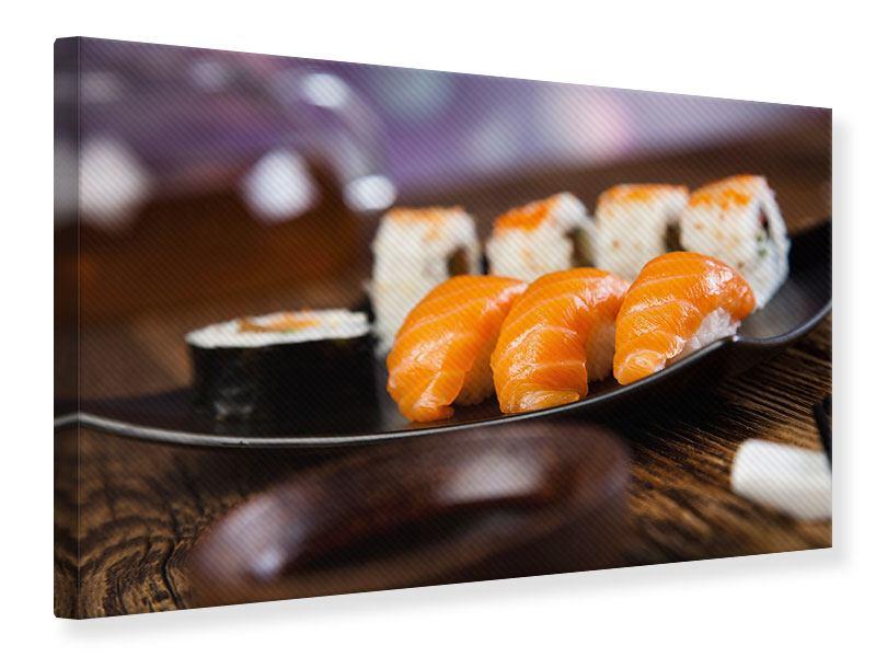 Leinwandbild Sushi-Gericht
