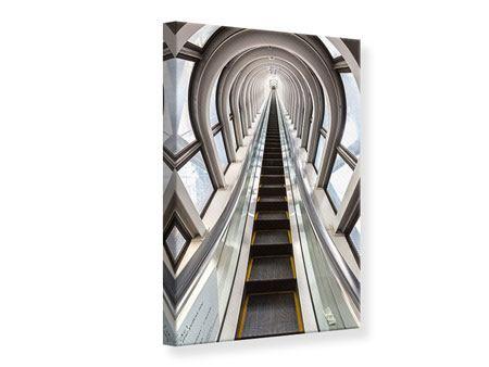 Leinwandbild Futuristische Rolltreppe