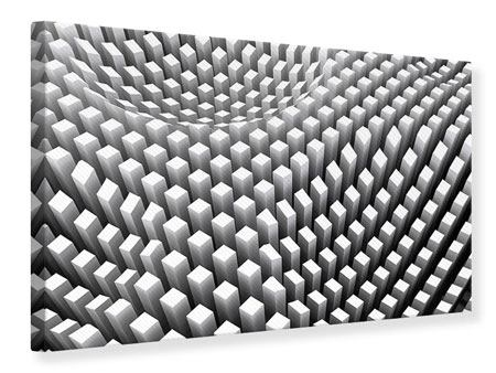 Leinwandbild 3D-Rasterdesign
