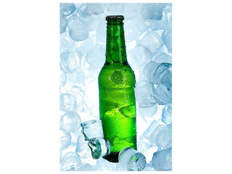 Leinwandbild Eisgekühltes Bier