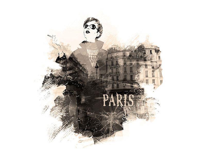 Leinwandbild Pariser Modell