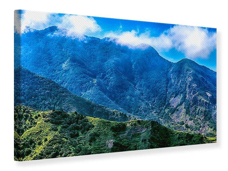 Leinwandbild Die Berglandschaft