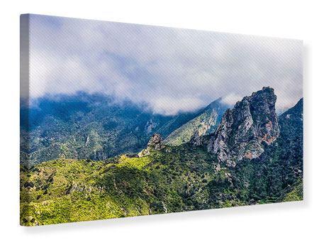 Leinwandbild Der stille Berg