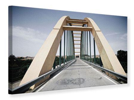 Leinwandbild Imposante Hängebrücke