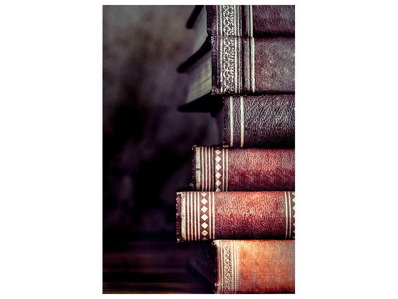 Leinwandbild Antike Buchstapel