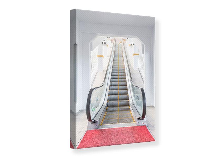 Leinwandbild Rolltreppe