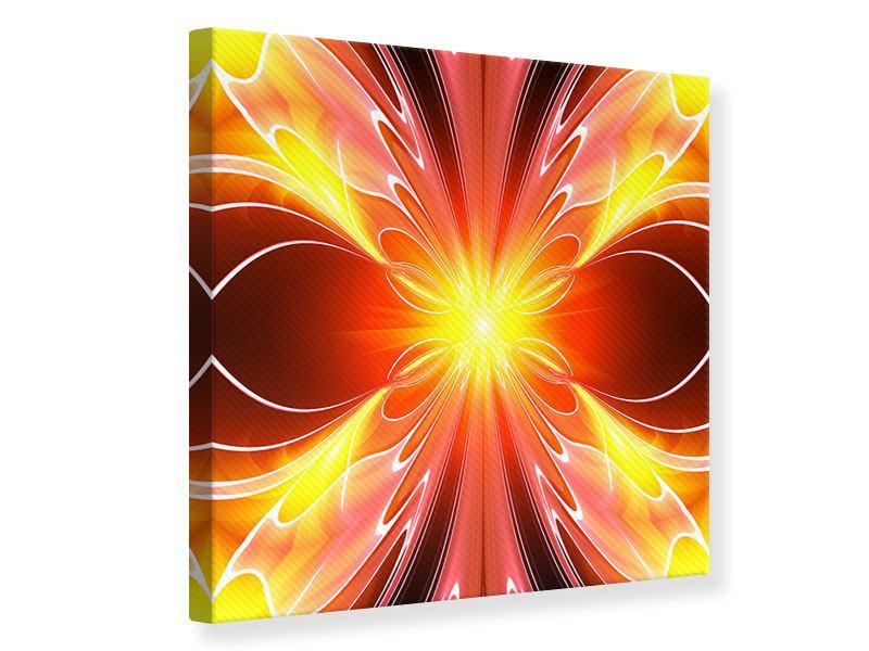 Leinwandbild Abstraktes Farbenspektakel