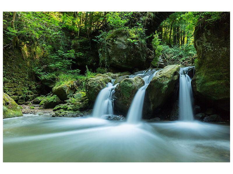 Leinwandbild Fallendes Wasser