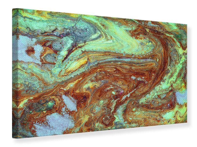 Leinwandbild Marmor in Grün