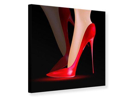 Leinwandbild Der rote High Heel