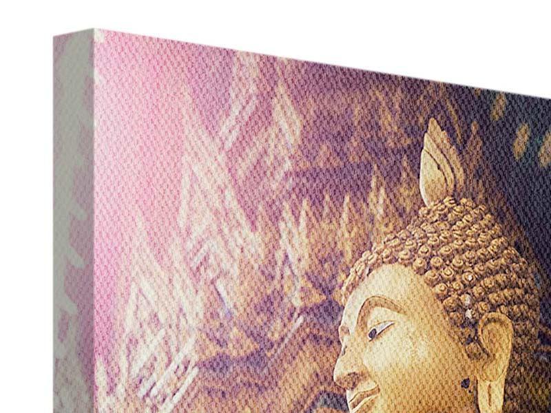 Leinwandbild Buddha Skulptur
