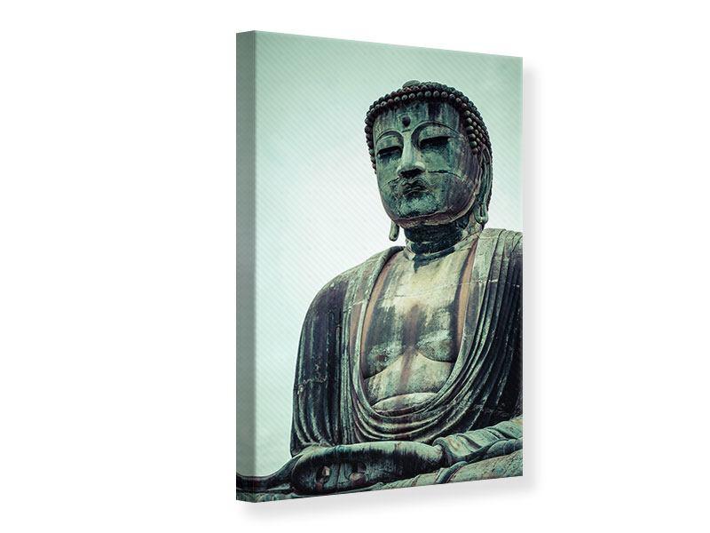 Leinwandbild Meditierender Buddha