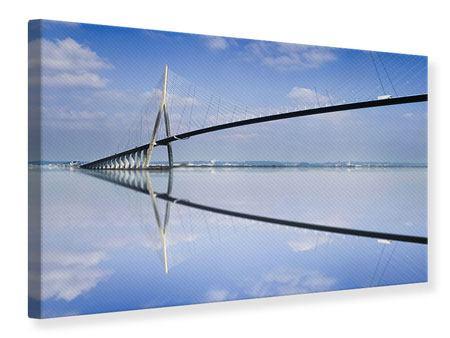 Leinwandbild Die Pont de Normandie
