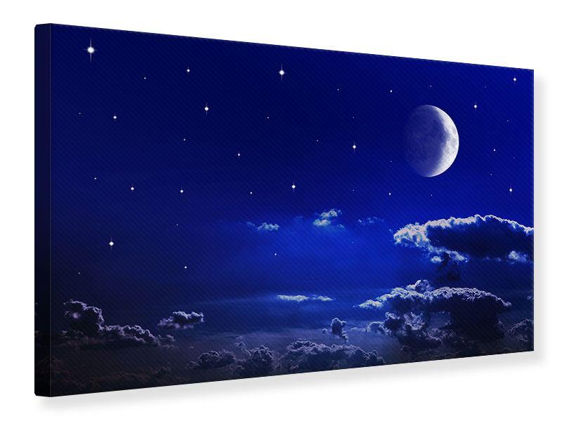 Leinwandbild Der Nachthimmel