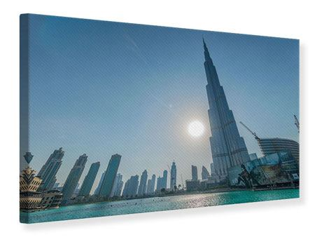 Leinwandbild Wolkenkratzer-Architektur Dubai