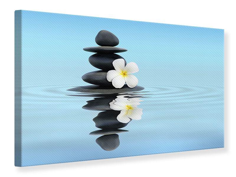 Leinwandbild Zen Steine