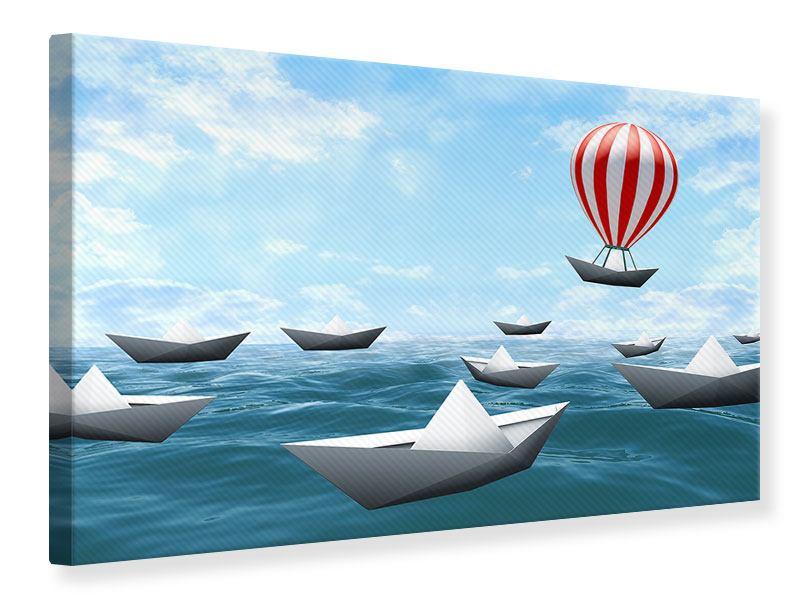 Leinwandbild Schiffchen
