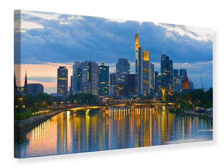 Leinwandbild Skyline Frankfurt am Main