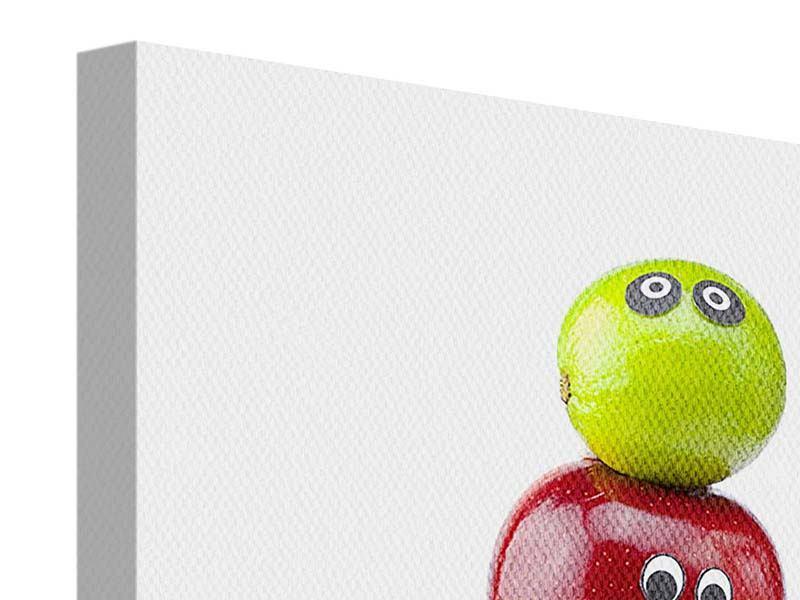 Leinwandbild Lustiges Obst