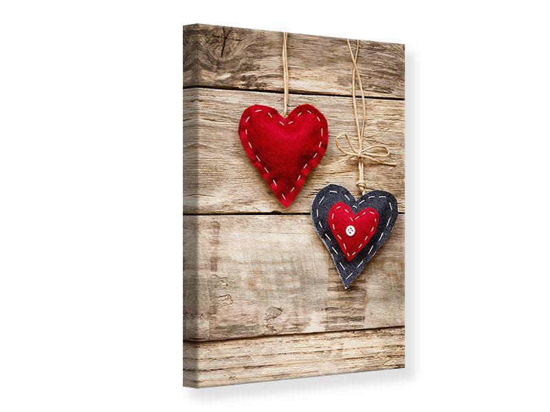 Leinwandbild Herzromantik