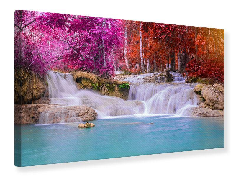 Leinwandbild Paradiesischer Wasserfall