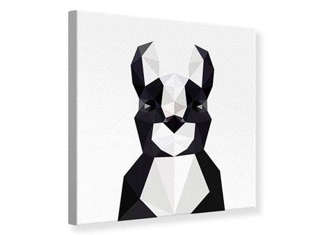Leinwandbild Origami Bulldogge