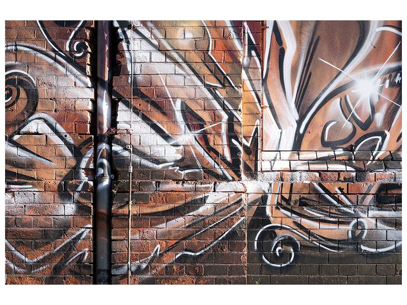 Leinwandbild Graffiti Mauer