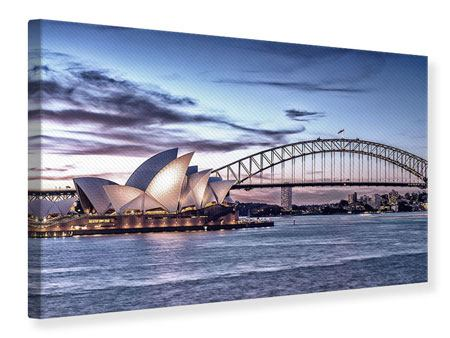 Canvas Print Skyline Sydney Opera House