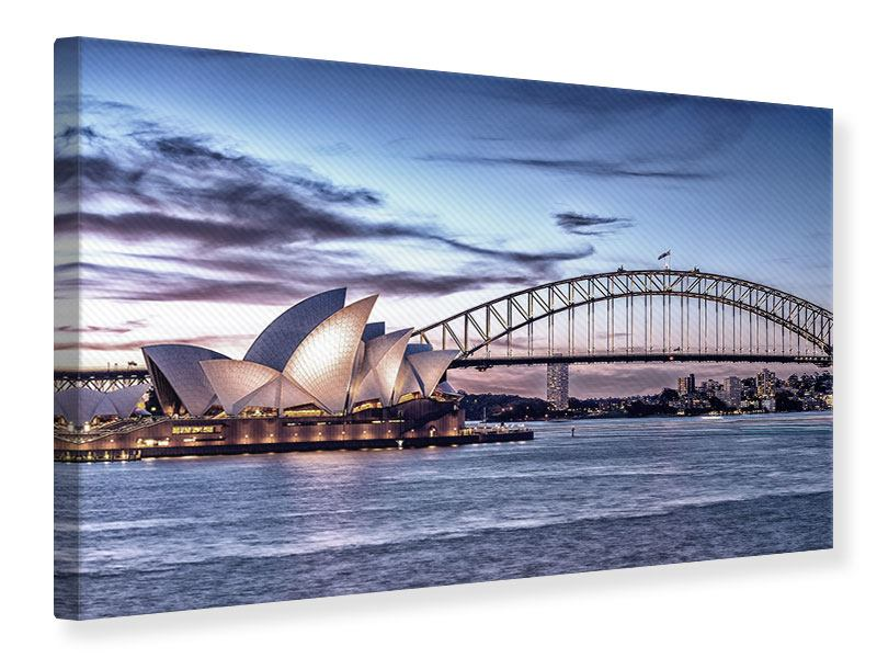 Leinwandbild Skyline Sydney Opera House