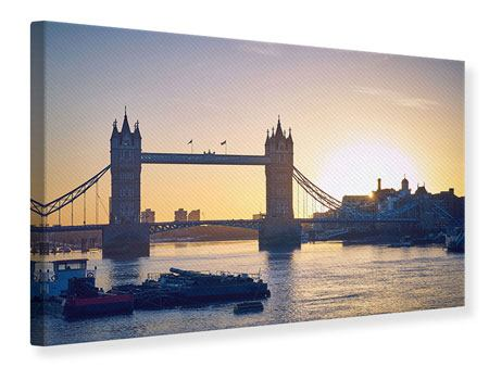 Leinwandbild Tower Bridge bei Sonnenuntergang