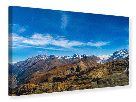 Leinwandbild Schweizer Alpen im Frühling