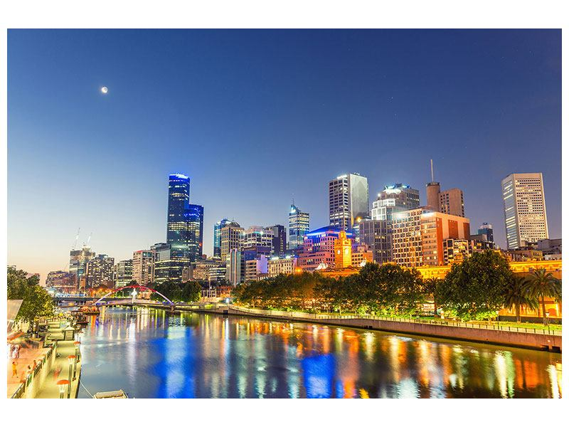 Canvas Print Skyline Sydney At Dusk