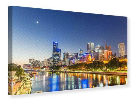 Leinwandbild Skyline Sydney in der Abenddämmerung