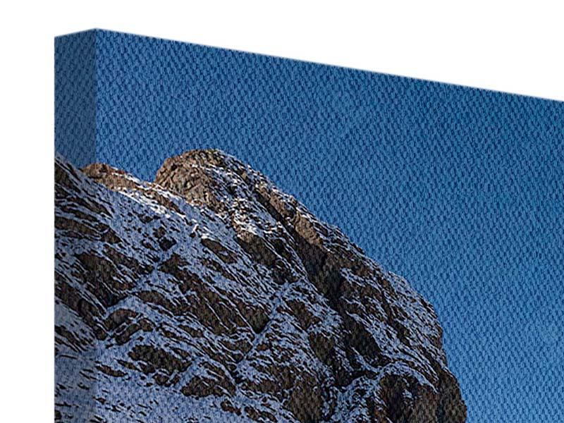Leinwandbild Der Riffelsee am Matterhorn