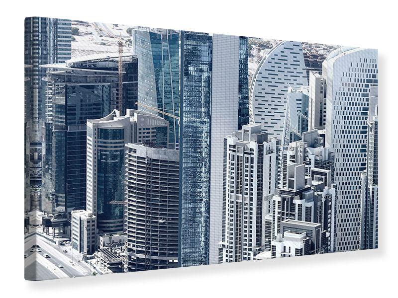 Leinwandbild Die Wolkenkratzer von Dubai