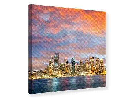 Leinwandbild Skyline Das Lichtermeer von Sydney