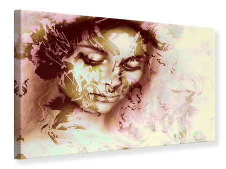 Leinwandbild Romantisches Portrait einer Schönheit